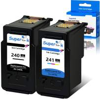 SuperInk Remanufactured PG-240XL 240 XL CL-241XL 241 XL Ink Cartridges Combo Pack Compatible for Canon PIXMA MG3620 TS5120 MX472 MX452 MG3522 MG2120 MG3520 MG3220 (1 Black 1 Tri-Color)