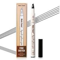 Vtrem Microblade Eyebrow Pen Waterproof Fork Tip Eyebrow Tattoo Pencil Long Lasting Smudge-Proof for Natural Hair-Like Defined Browns All Day (Black)
