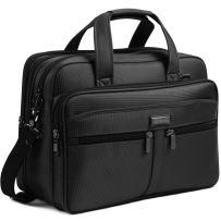 BOSTANTEN 17 inch Laptop Bag Case Expandable Briefcases for men Computer Water Resisatant Business Messenger Shoulder Bag