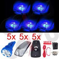 cciyu 5x Blue 6SMD 194 168 LED Bulb Smoke Cab Marker Light Assembly +wiring pack Replacement fit for 2003-2010 Dodge Ram 1500 Ram 2500 Ram 3500 Ram 4500 Ram 5500