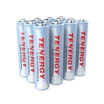 Tenergy AAA Rechargeable Battery, High Capacity 1000mAh NiMH AAA Battery, 1.2V Triple A Batteries 12-Pack