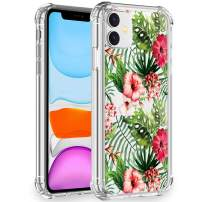Artemiss iPhone 11 Case 2019,Shockproof Series Hard PC+ TPU Transparent Bumper Protective Case for iPhone 11 6.1 Inch -(Flowering Reseda Green)