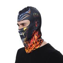 GANWAY Outdoor Sports Balaclavas Headwear Cycling Hat Motorcycle Mask 3D Animal Ski Masks Hood Skull Cap (BB20) Black