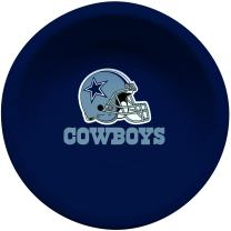 Creative Converting Officially Licensed NFL Paper Bowls, 8-Count, 20-Ounce, Dallas Cowboys
