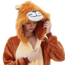 ABENCA Women Lion Onesie Pajama Costume Adult Animal Halloween Christmas Cosplay Onepiece