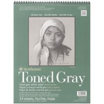 """Strathmore 412-111 400 Series Toned Gray Sketch Pad, 11""""x14"""" Wire Bound, 24 Sheets"""