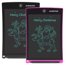 """AURXONS LCD Writing Tablet, 8.5"""" Electronic Writing Drawing Pad, Doodle Board, Erasable Handwriting Tablet, Portable Ewriter for Kids Adults at Home School Office 2-Pack(BK+PK)"""