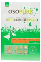 Artemis OSOPURE Dry Dog Food - Grain Free Limited Ingredient Duck Garbanzo Bean Formula Protein Nutrition All Life Stages