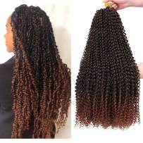 7 Packs Passion Twist Hair 22 Inch Water Wave Synthetic Braids for Passion Twist Crochet Braiding Hair Goddess Locs Long Bohemian Curl Hair Extensions (22Strands/Pack, T30#)
