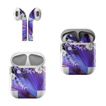 Skin Decals for Apple AirPods - Purple Waves - Sticker Wrap Fits 1st and 2nd Generation