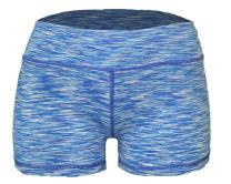 Epic MMA Gear WOD Booty Shorts for Women (Medium, Light Blue Space Dye)