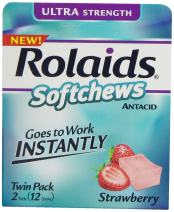 Rolaids Softchews, Strawberry, 12 Count (Pack of 6)