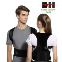 Posture Corrector for Women and Men FDA Approved Adjustable Back Support Brace with Lumbar Waist Support, Magnetic Upper Back Straightener Brace Providing Shoulder-Neck-Back Pain Relief (M)