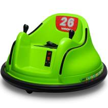 Kidzone Race #34/#43 Ride On Bumper Car Toy for Toddlers Aged 1.5+ 6V Battery-Powered with Light for Boys & Girls, Green
