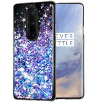 Caka Case for OnePlus 7 Pro Glitter Case Starry Night Series Luxury Fashion Bling Flowing Liquid Floating Sparkle Glitter Soft TPU Black Case for OnePlus 7 Pro (Blue Purple)