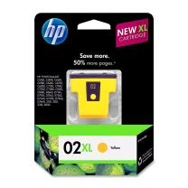 HP 02XL Yellow High Yield Original Ink Cartridge (C8732WN) DISCONTINUED BY MANUFACTURER,Black