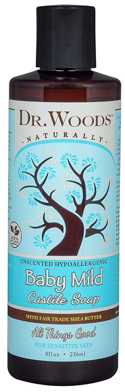 Dr. Woods Baby Mild Soap with Shea Butter, 8 Ounce