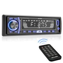 Single Din Car Stereo, aboutBit Bluetooth Multimedia Car Audio Systems w/Hands-Free Calling, No CD/DVD Player, Built-in Microphone, FLAC/MP3/USB, AUX Input, AM/FM Radio Receiver