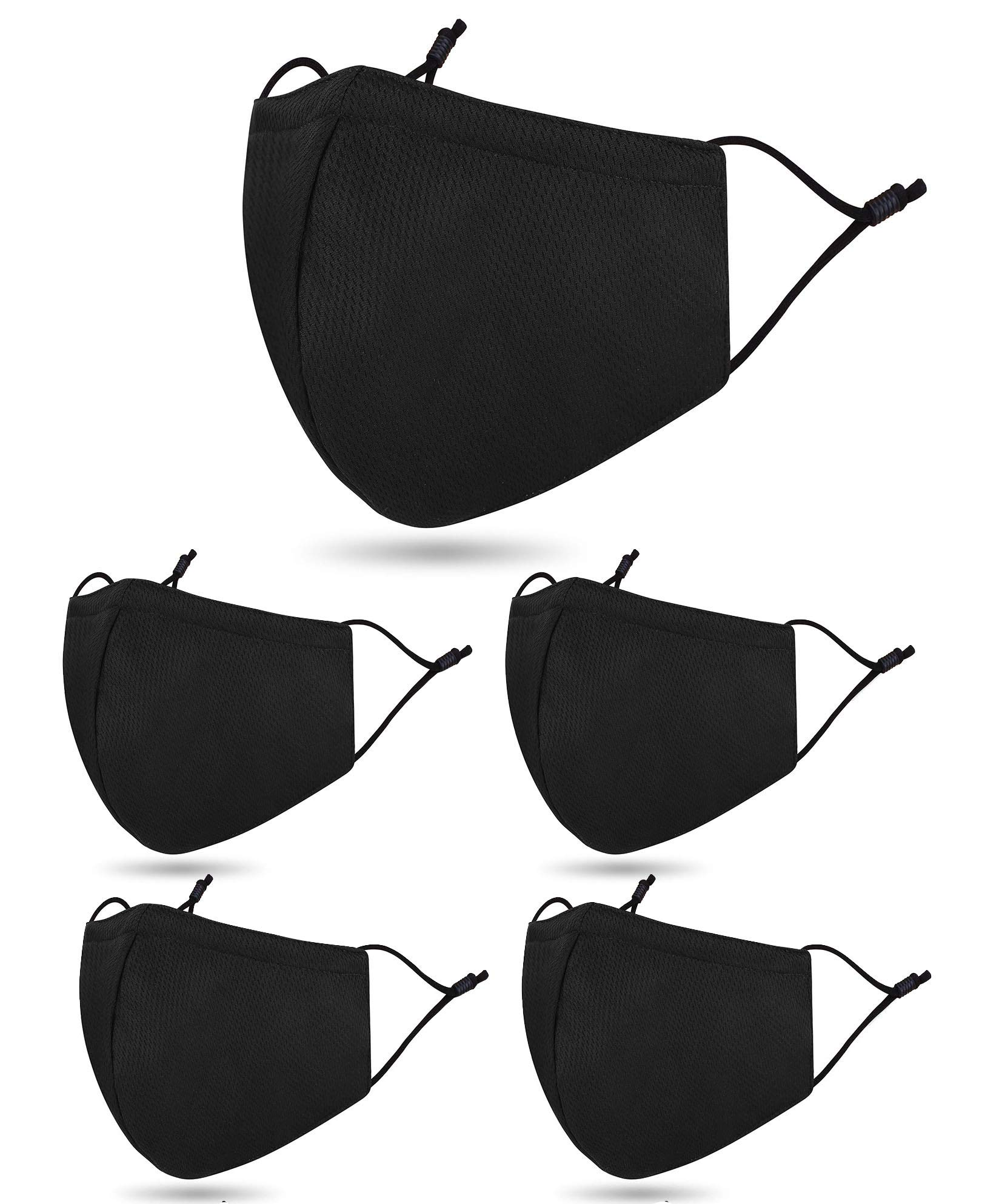 5 PCS Washable Reusable 2 Layers Breathable Face Madks Facial M_ask C-over, B