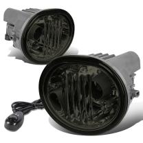 Replacement for Scion tC/Matrix/Pontiac Vibe Pair of Bumper Fog Lights + Switch (Smoked Lens)