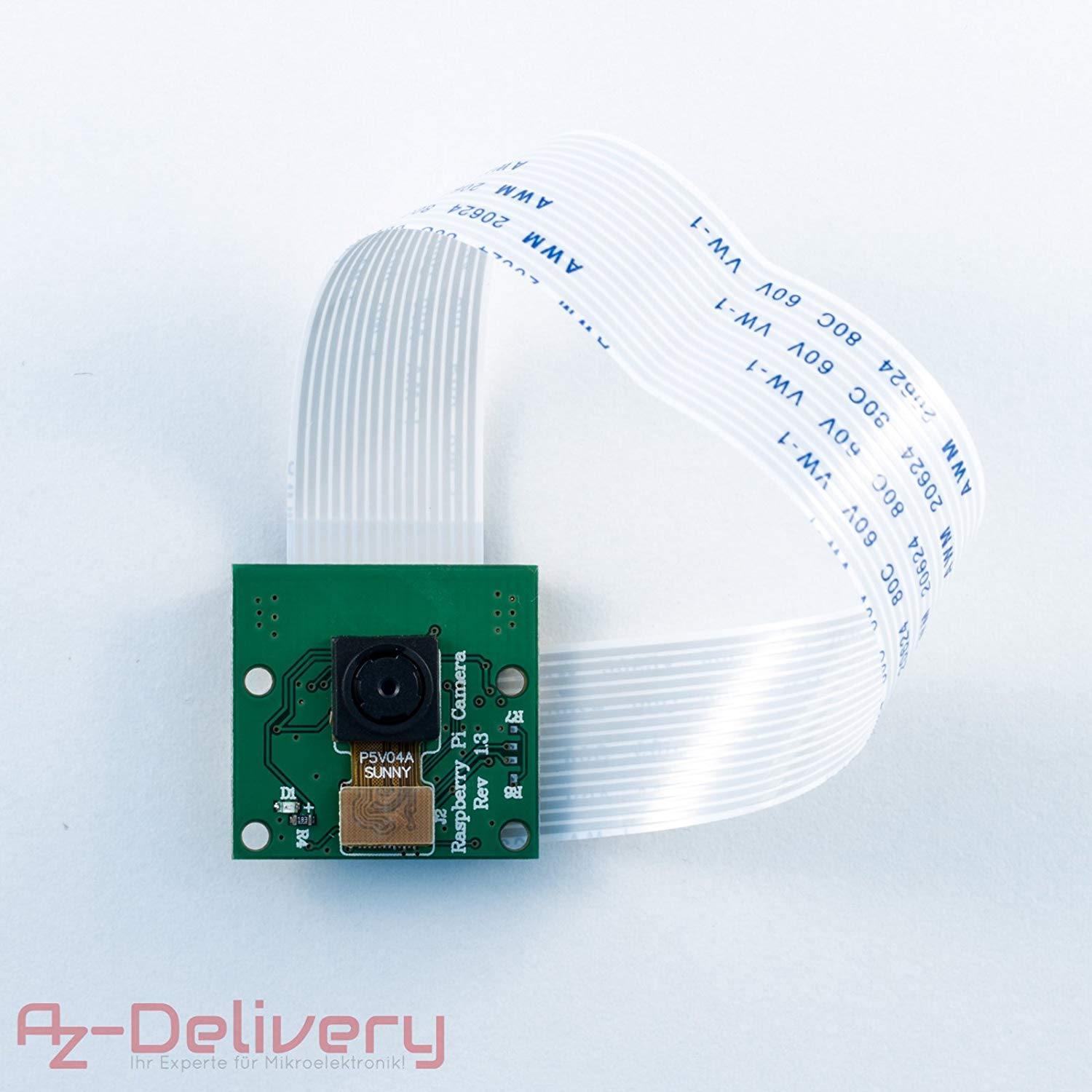 AZDelivery Camera Module V 1.3 1080p 5 Megapixels for Raspberry Pi Model A and B Including Free eBook!