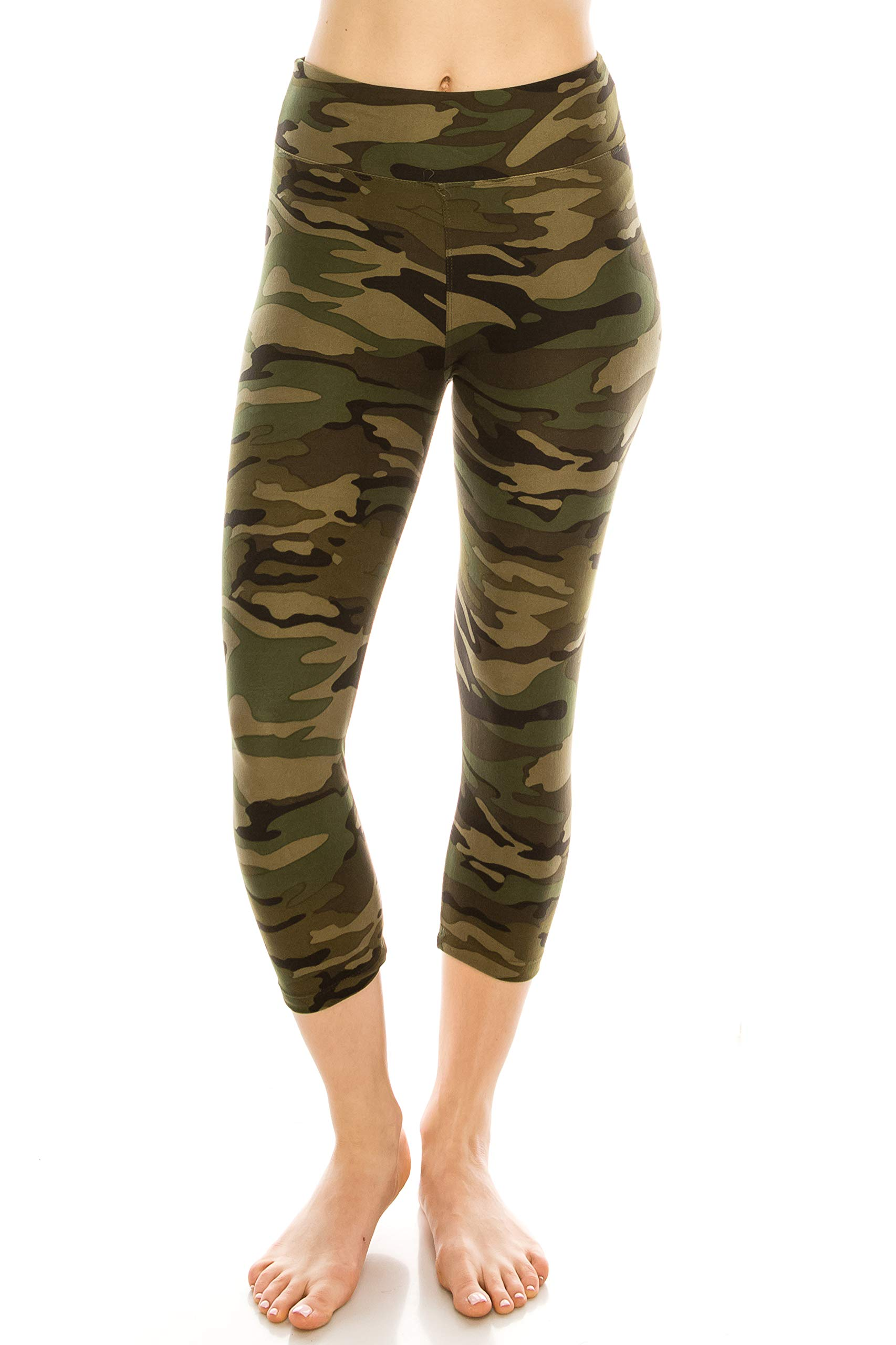 ALWAYS Women High Waisted Capri Leggings - Premium Buttery Soft Stretch Solid Basic Yoga Workout Pants