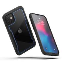 MAXSHIELD Compatible with iPhone 11 Case, Premium Hybrid Shockproof Protective Slim Clear Case [Razor X Series]-Blue