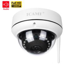 ICAMI HD Security Camera WiFi Dome IP Camera Wireless Home Surveuillance System Audio with Motion Detect (1080P)