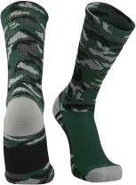 TCK Sports Elite Woodland Camo Performance Crew Socks