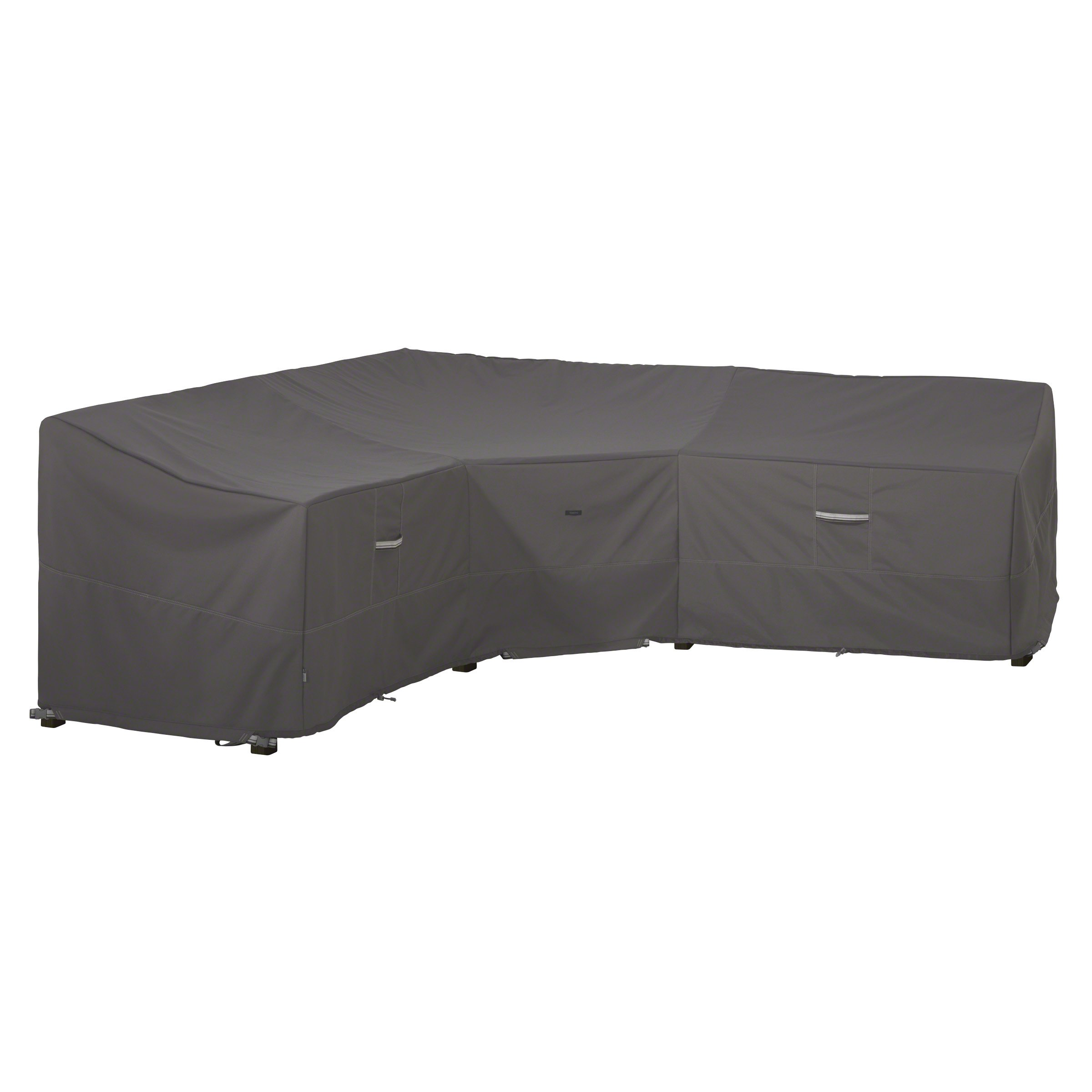 Classic Accessories Ravenna Water-Resistant 100 Inch Patio V-Shaped Sectional Lounge Set Cover