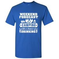 UGP Campus Apparel Weekend Forecast Camping with a Chance of Drinking T-Shirt