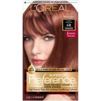 L'Oreal Paris Superior Preference Fade-Defying + Shine Permanent Hair Color, 6R Light Auburn, 1 kit Hair Dye
