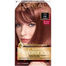 L'Oreal Paris Superior Preference Fade-Defying + Shine Permanent Hair Color, 6R Light Auburn, 1 kit Hair Dye