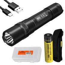 Nitecore MH11 USB-C Rechargeable EDC Flashlight, 1000 Lumen with LumenTac Battery Organizer