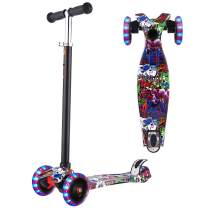 WeSkate Scooters for Kids, Lights Up Scooter for Girls Boys, Adjustable Height, Design for Children Ages 2-12