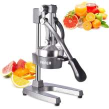 Frifer Manual Citrus Juicer Hand Press,Commercial Orange Lemon Juicer Squeezer Heavy Duty Cast Iron Fuselage and Base,Stainless Steel Funnel&filter screen,Durable and Easy to Clean(Gray)
