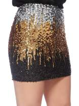 Anna-Kaci Women's Sequin Skirt Sparkly Stretchy Bodycon Mini Pencil Skirt Night Out Party