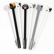 WIN-MARKET Gel Pens Set Fashion Cute Colorful Cute Kawaii Lovely Cat Dog Bear paw Claw Gel Ball Pens Office School Pens Stationery(6PCS)