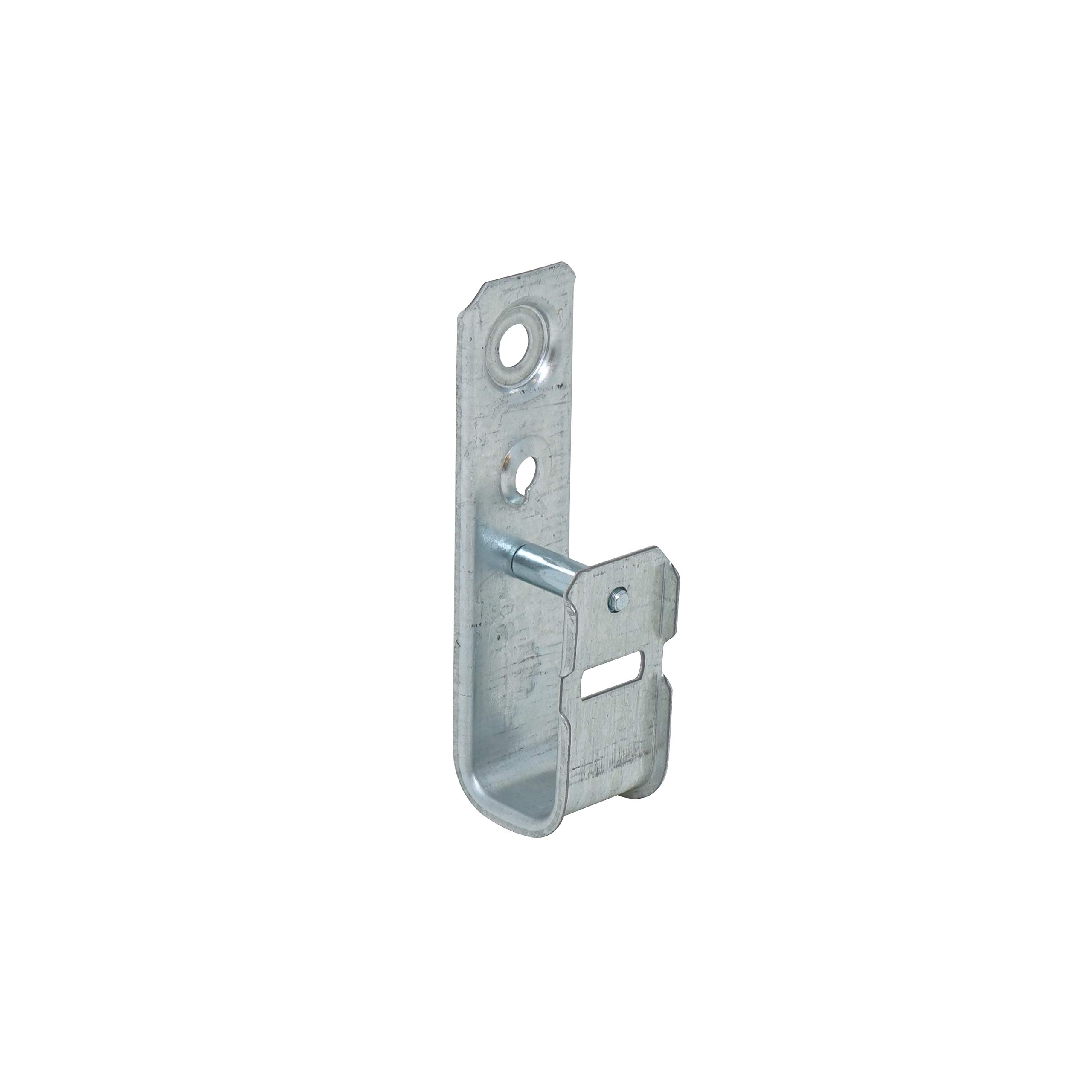 """Southwire SW-JHK-21 1-5/16"""" Cable Support J-Hook, Holds 40 Cat 5E Wires, Zinc Plated Steel Ceiling Mount, 25 Pack, 1-5/16 Inch, Silver"""