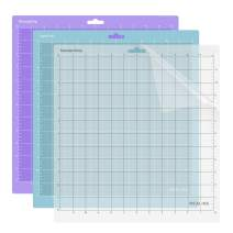 REALIKE 12x12 Cutting Mat for Cricut Explore One/Air/Air 2/Maker(3 Mats), Gridded Adhesive Non-Slip Cut Mat for Crafts, Quilting, Sewing and All Arts (Variety)
