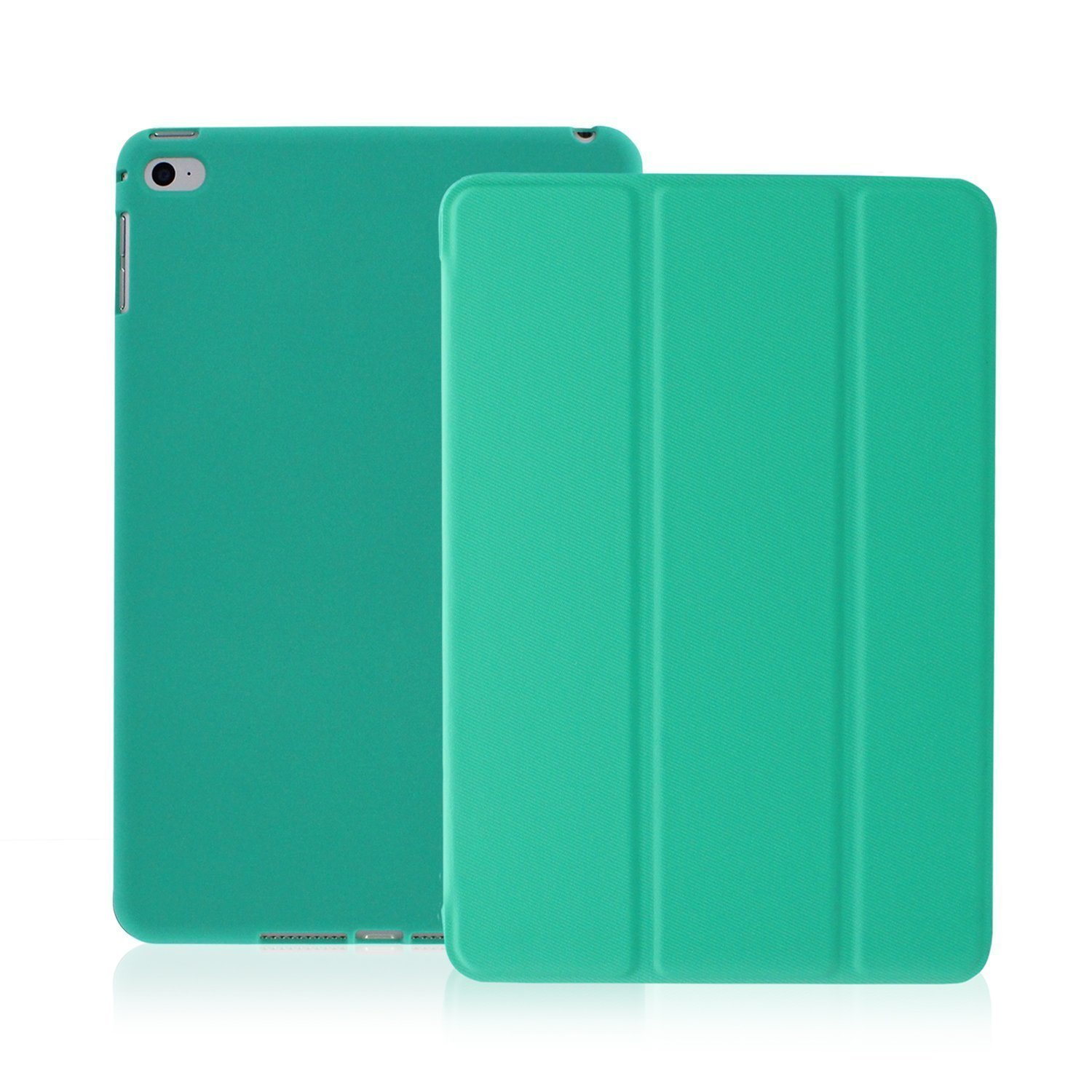 KHOMO iPad Air 2 Case - Dual Series - Ultra Slim Cover with Auto Sleep Wake Feature for Apple iPad Air 2nd Generation Tablet, Twill Green (ip-air-2-dark-green-2)