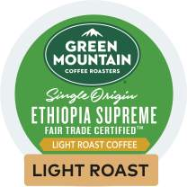 Green Mountain Coffee Roasters Ethiopia Supreme, Single-Serve Keurig K-Cup Pods, Light Roast Coffee, 96 Count