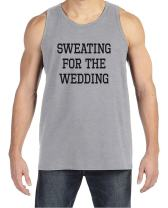 7 ate 9 Apparel Men's Sweating for Wedding Tank Top