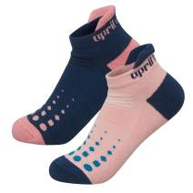 Aprilaugust Hidden Comfort No show Athletic Running socks for Men and Women (ZA_Pink & Navy (2pairs), Small)