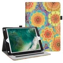 Fintie Case for iPad 9.7 2018 2017 / iPad Air 2 / iPad Air - [Corner Protection] Multi-Angle Viewing Folio Cover w/Pocket, Auto Wake/Sleep for iPad 6th / 5th Gen, iPad Air 1/2, Summer Dahlia