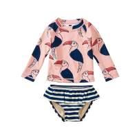 Tea Collection Ruffle Rash Guard Swimwear Set, Girls, Hornbill