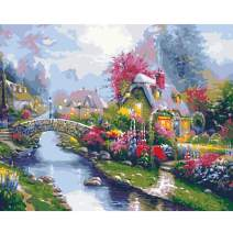 Paint by Numbers Kits with Brushes Acrylic Pigment DIY Canvas Painting for Adults Beginner Give For Mother 16 x 20 inch