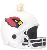Old World Christmas Arizona Cardinals Glass Blown Ornaments for Christmas Tree Helmet