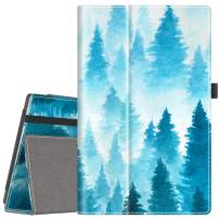 """VORI Folio Case for All-New Fire HD 10 (9th Gen 2019 and 7th Gen 2017 Release), Smart Cover Slim Folding Stand Case with Auto Wake/Sleep and Hand Strap for Amazon Fire HD 10.1"""", Misty Forest"""
