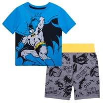 DC Comics Boys Batman Graphic Short Sleeve T-Shirt and Shorts Lounge Set